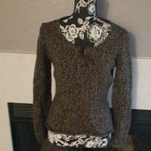 {J. Crew} 100% Merino Wool Keyhole Sweater